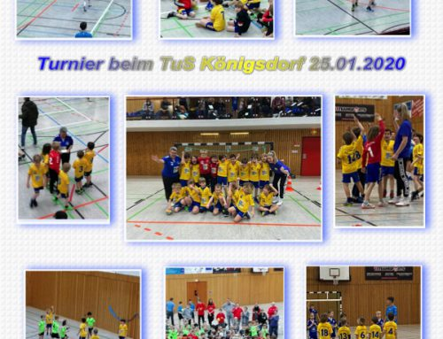Handball Minis beim Turnier des TuS Königsdorf