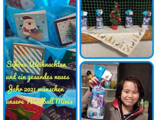 Weihnachtsüberraschung für unsere Handball Minis